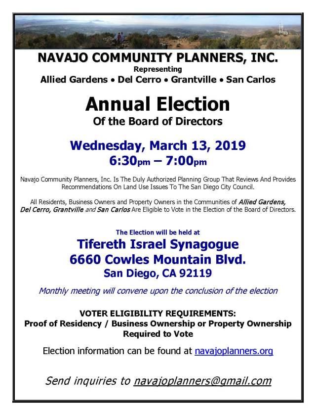 NavajoCommunityPlannersElectionNotice 2019